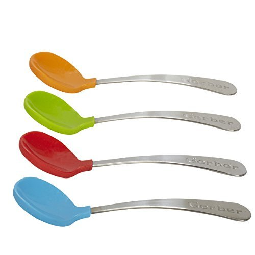 Gerber Graduates Soft Bite Toddler Spoons, 4-count