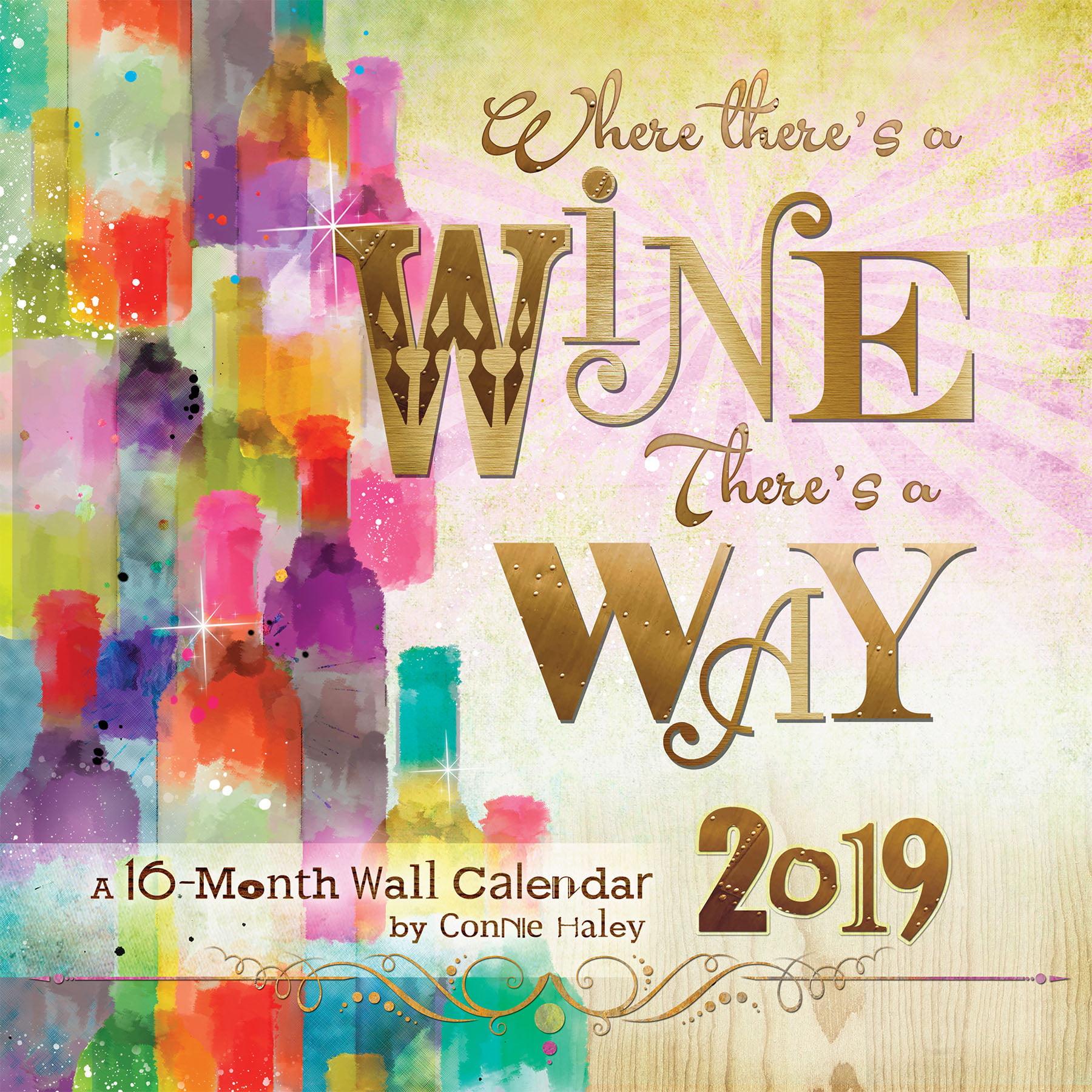 2019 Wine � Connie Haley Wall Calendar by Trends International