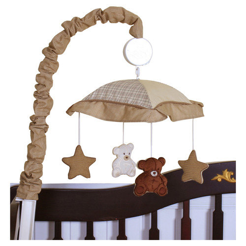 Geenny Boutique Teddy Bear Music Crib Mobile