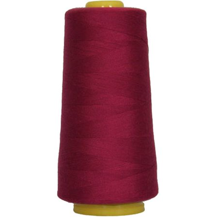 Threadart Polyester Serger Thread - 2750 yds 40/2 - Rose Jubilee - 56 Colors (Maroon Thread)