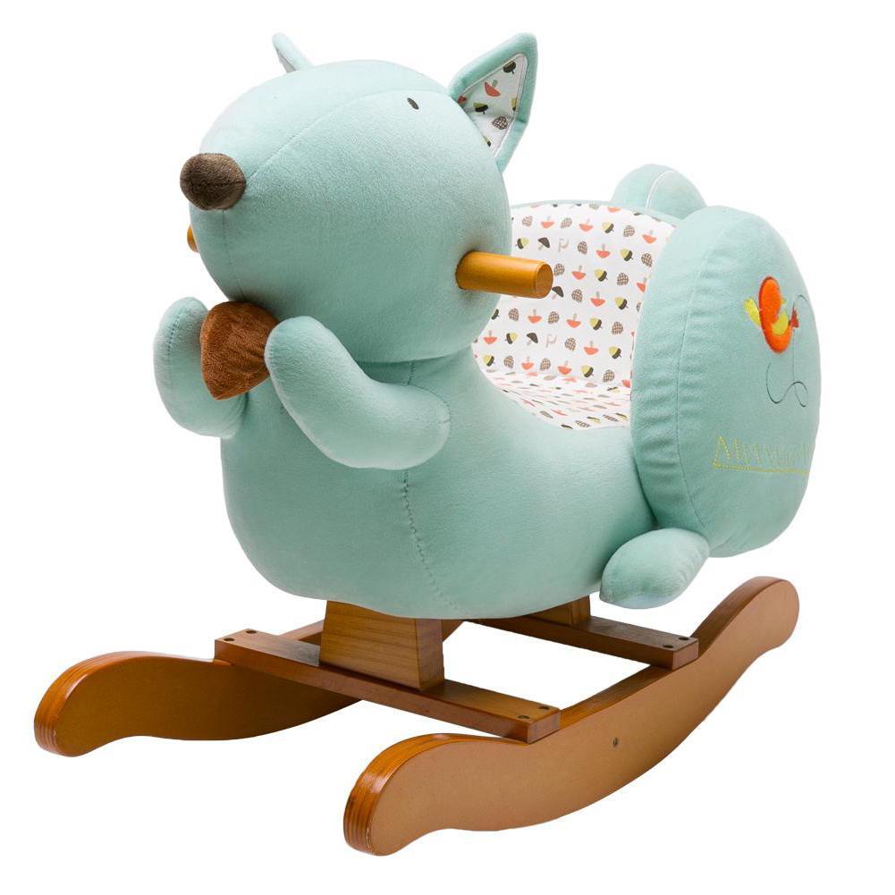 Labebe Child Rocking Horse Toy Stuffed Animal Rocker Toy Blue