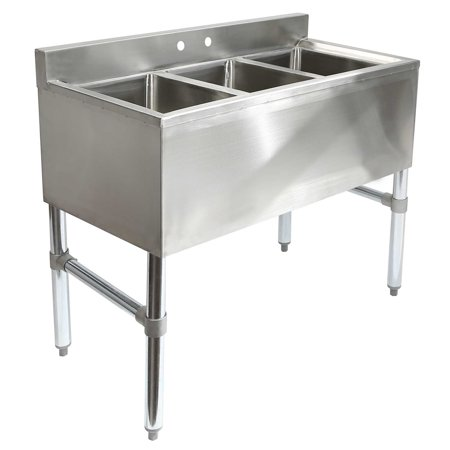 GRIDMANN 3 Compartment NSF Stainless Steel Commercial Bar (Bar Sink Dimensions)