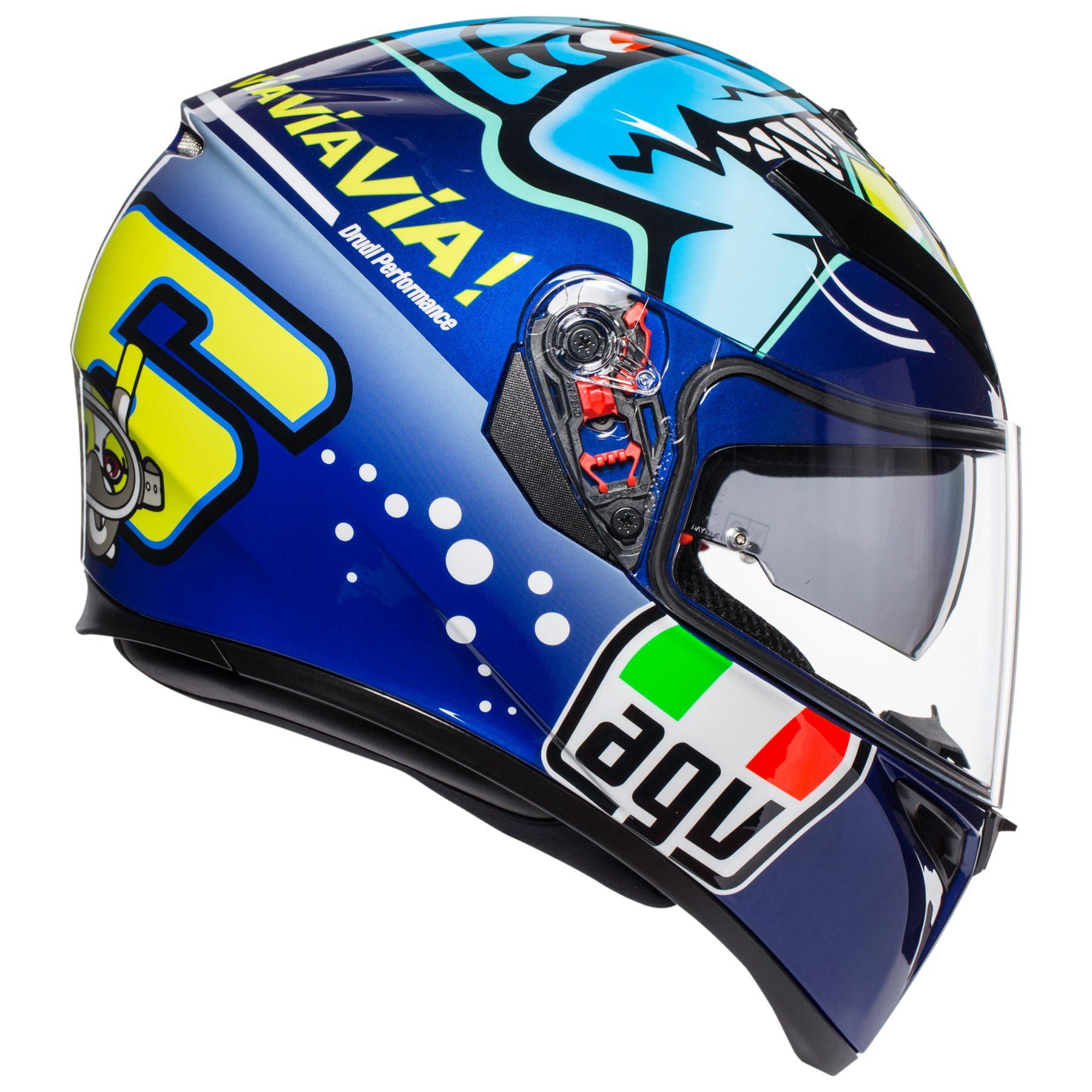 Agv K3 Sv Rossi Misano 15 Motorcycle Helmet Blue Black Walmart Com Walmart Com