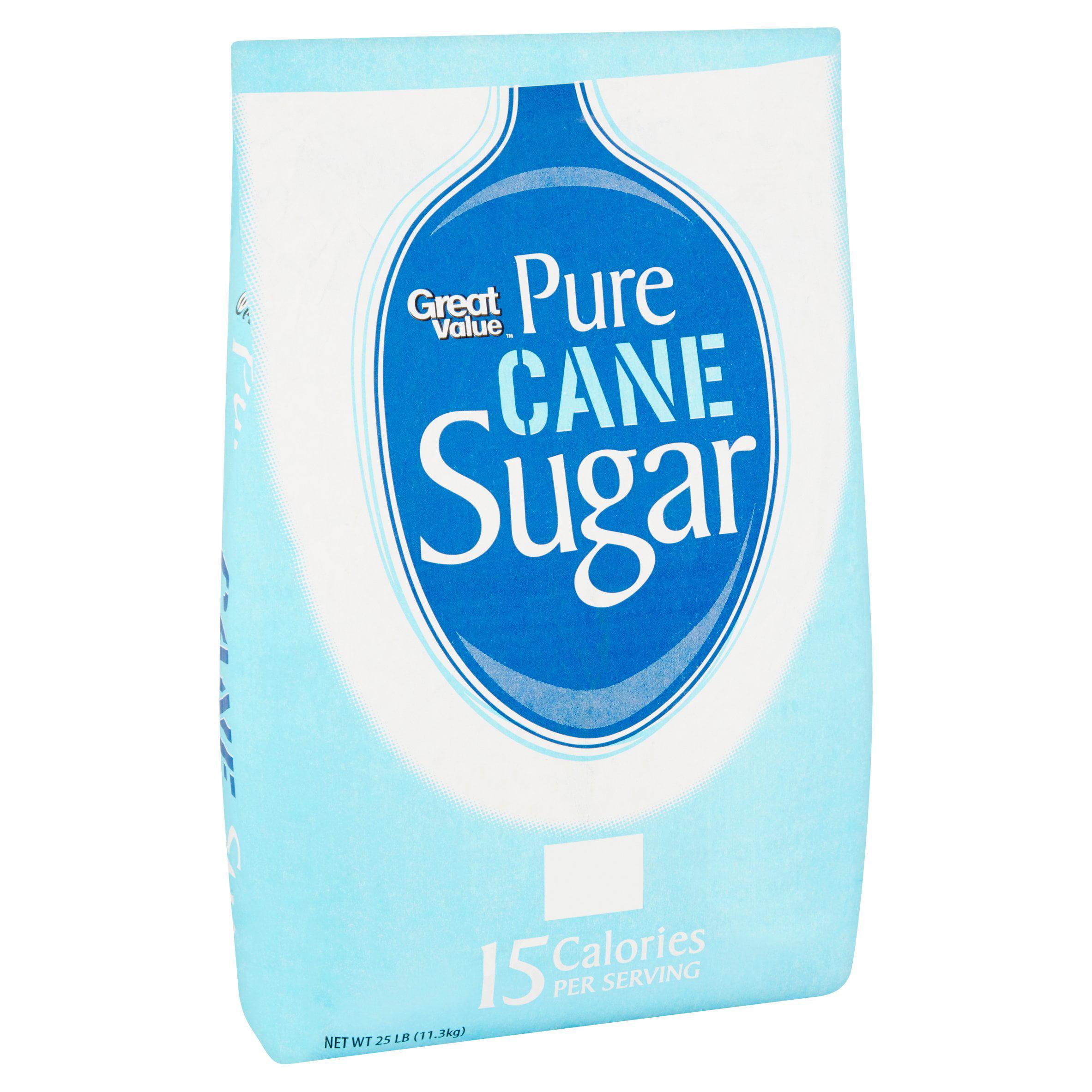 Great Value Pure Cane Sugar 25 lb Walmart