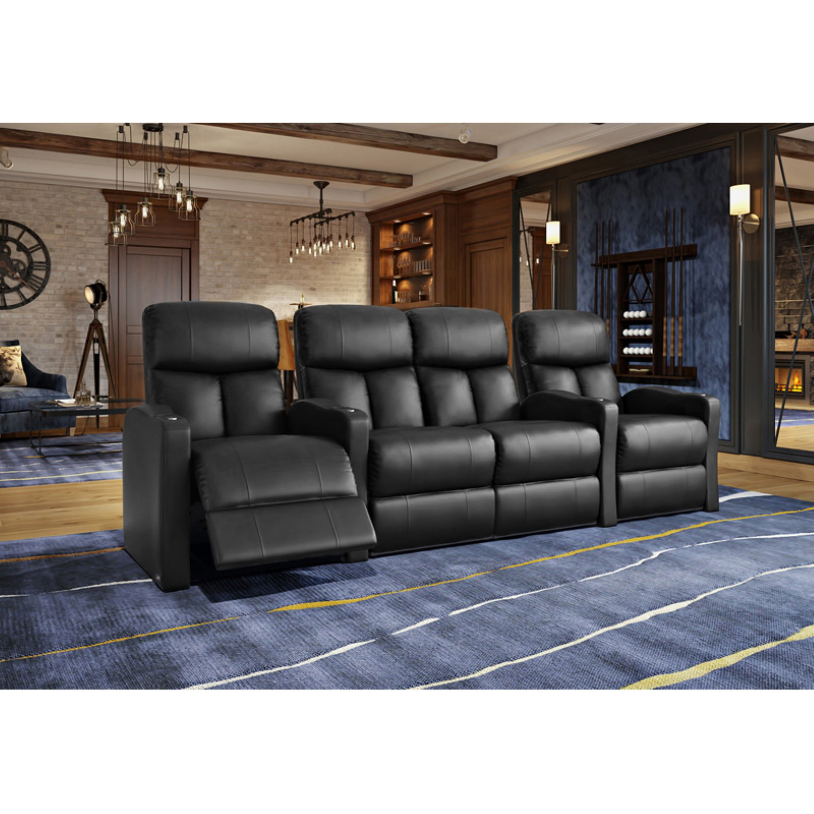 Octane Bolt XS400 4 Seater Middle Loveseat Power Recline Home Theater Seating