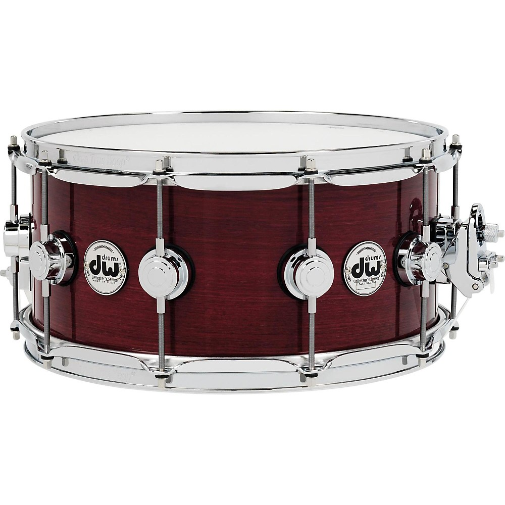 DW Collector's Series Purple Heart Lacquer Custom Snare Drum w Chrome Hardware 14 x 6.5... by DW