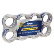 Duck Brand HP 260 1.88 in. x 60 yd. Clear Acrylic Packing Tape, 8-pack