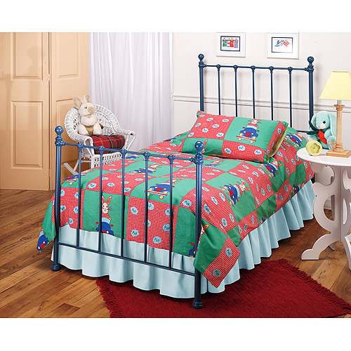 Hillsdale Molly Twin Bed with Bed Frame, Blue