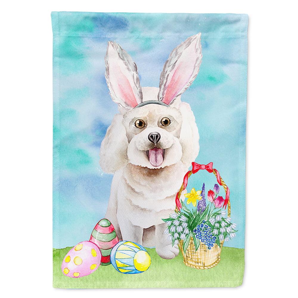 Bichon Frise Easter Bunny Garden Flag