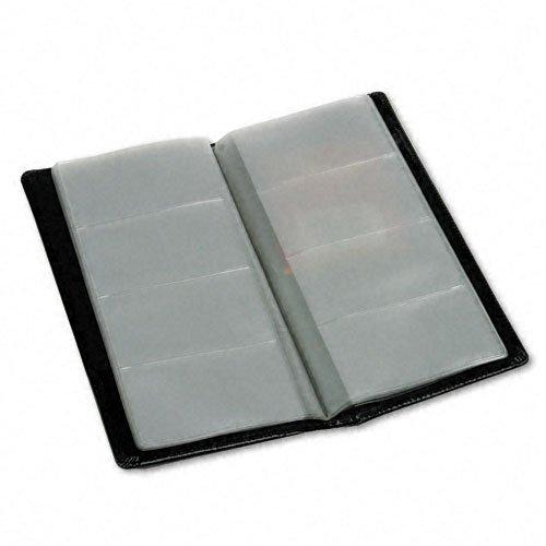 Samsill Regal Leather Business Card File - Black (81240)
