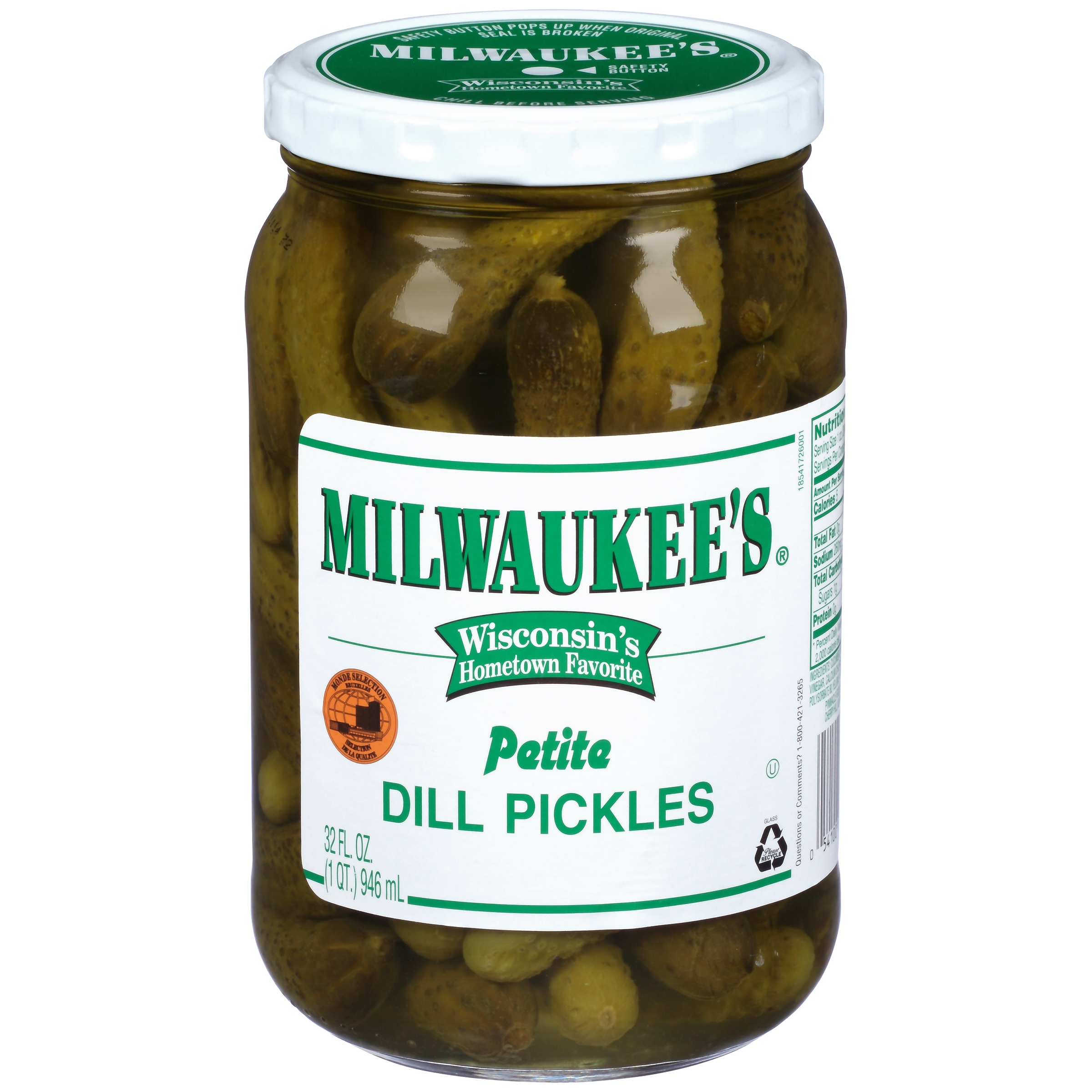 Milwaukee's: Pickles Midget Dill, 32 Oz by Pinnacle Foods Group LLC
