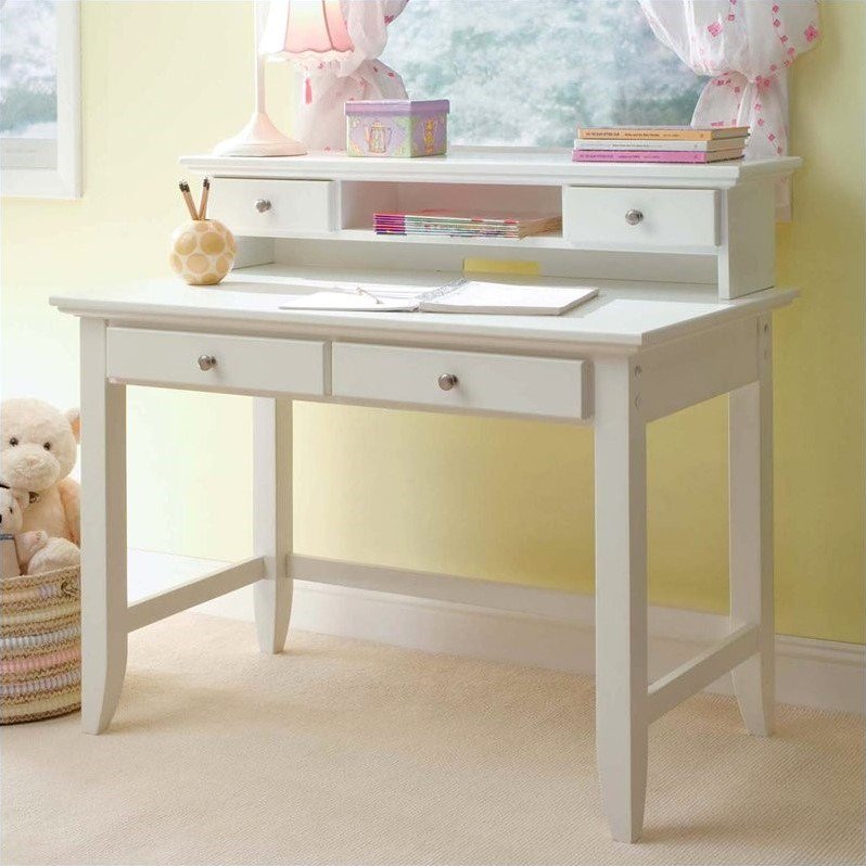 Stupendous Home Styles Naples Student Desk And Hutch Set In White Finish Home Interior And Landscaping Analalmasignezvosmurscom
