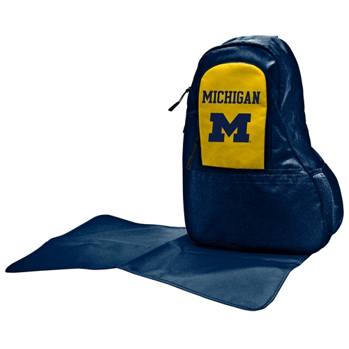 NCAA Diaper Bag by Lil Fan, Sling Style - Michigan Wolverines
