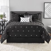 Mainstays Embroidered Cross 7 Piece Comforter Bedding Set