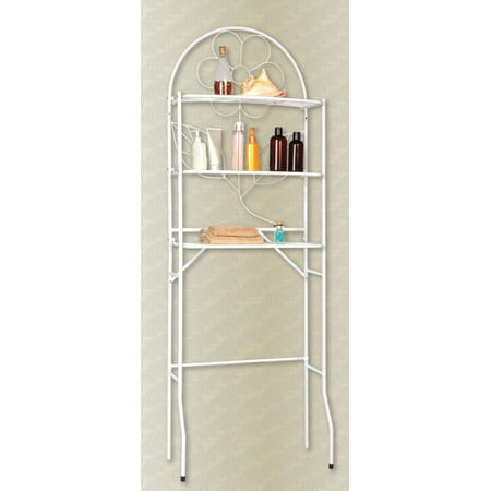 over the toilet bathroom space saver 3 shelf etagere white. Black Bedroom Furniture Sets. Home Design Ideas