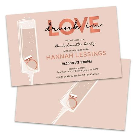 Invitation In A Bottle (Personalized Drunk in Love Bachelorette Party)