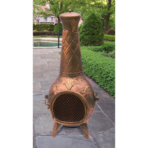 Oakland Living Grape Cast Metal Chiminea by Oakland Living Corporation