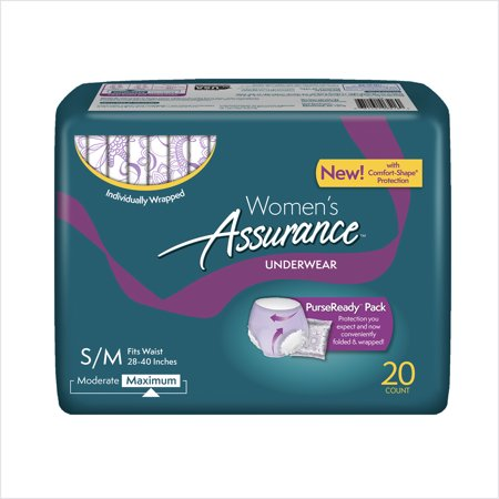 Assurance Incontinence Underwear For Women  Maximum  S M  20 Ct