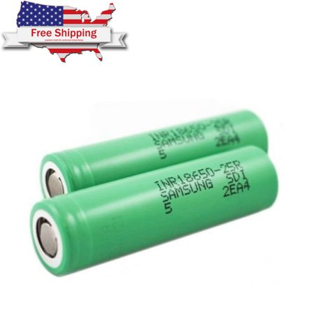 100% Authentic for Samsung 25R 2500mAh 3.7V High Drain Flat Top 18650