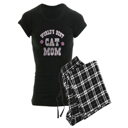 CafePress - World's Best Cat Mom Pajamas - Women's Dark