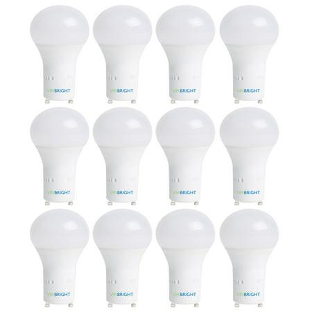 Viribright 60 Watt Replacement LED Light Bulbs (12 Pack), 6500K, Daylight, 800+ Lumens, GU24, 90+ CRI ()