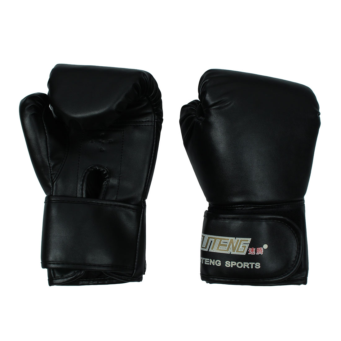 SUTENG Authorized Unisex Punching Bag Mitts Training Boxing Gloves Black Pair by Unique-Bargains