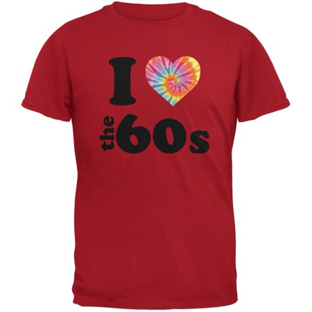 I Heart The 60s Red Adult T-Shirt](60s Mens Clothes)