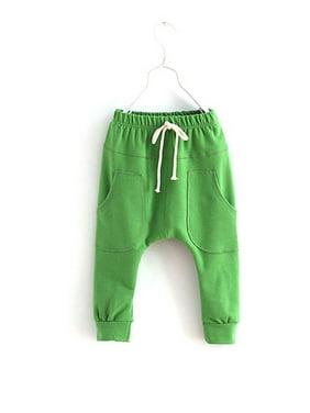 Kacakid Unisex Kid Toddler Cotton Jersey Harem Pants Baby Elastic Trousers