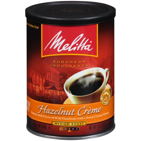 Melitta ® Hazelnut Creme Flavored Medium Roast Ground Coffee 11 oz. Canister