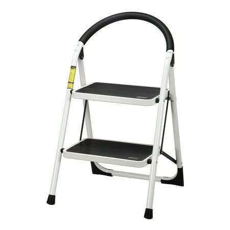 Mllieroo Portable Folding 2 Step Ladder Steel Stool Heavy