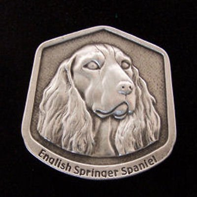 English Springer Spaniel Fine Pewter Dog Breed Ornament The sculpted image of your pet is surrounded with a wreath of holly and ivy. You will treasure this ornament for years to come. hey are made of Fine Pewter and come in a Christmas gift box for storing. Lindsay Claire is a Canadian manufacturer of Fine Pewter Gifts and Collectibles.  Each pewter item is cast in our shop from fine pewter and meticulously hand polished to a satin finish.Ornament is approximately 3  and has a satin cord attached for hanging.