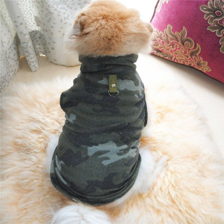 Pet Dogs Winter Warm Thickened Fleece Vest Coat for Small Medium Dogs Warm Costume with Traction - Hot Dog Costumes