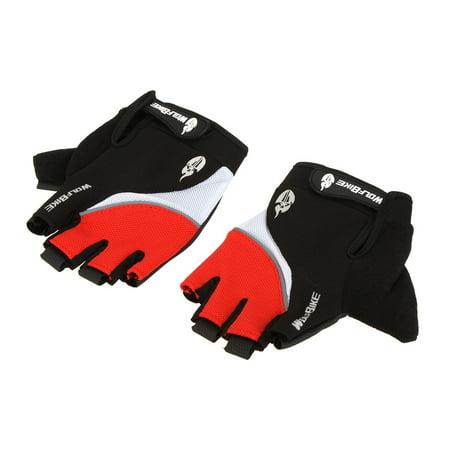 Wolfbike Mountain Bike Bicycle Cycling 3D GEL Breathable Anti-slip Anti-shock Half Finger Gloves ()