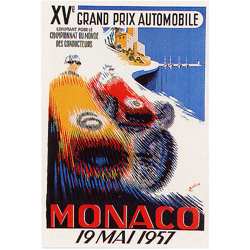 "Trademark Fine Art ""Monaco 1957"" Canvas Art by George Ham, 18x24"