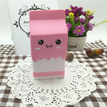 Cute Slow Rising Milk Bag Toys Soft Squishy Milk Box Stress Anxiety Reducer Creative PU Vent Toy - image 6 de 6