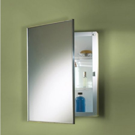 Broan-Nutone Styleline Steel 16W x 26H in. Medicine Cabinet Nutone Framed Medicine Cabinets