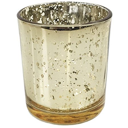 Just Artifacts Speckled Gold Mercury Votive Candle Holder (1pcs, 3