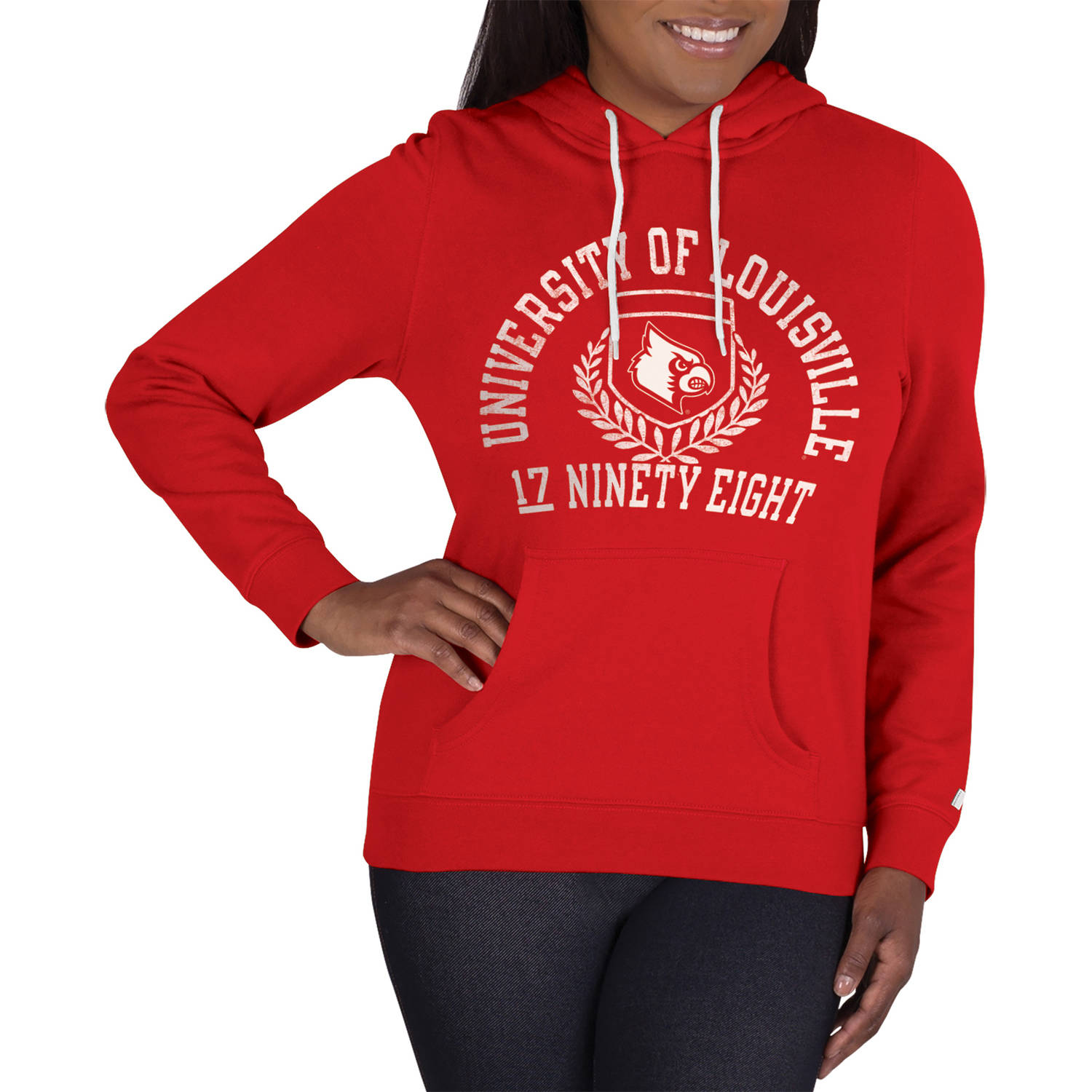 NCAA Louisville Cardinals Ladies Classic-Fit Pullover Hood