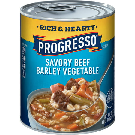 Progresso Soup Rich & Hearty Savory Beef Barley Vegetable Soup Cabbage Vegetable Soup