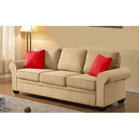 and classically designed linen fabric standard size sofa