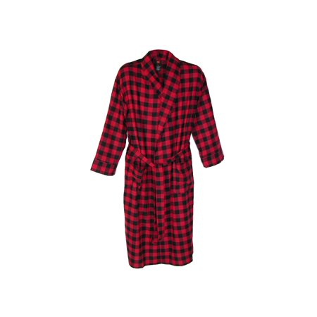 Big And Tall Plaid Robe - Men's Big and Tall Cotton Flannel Robe