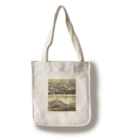 Stewart, Ohio - Panoramic Map (100% Cotton Tote Bag - Reusable)