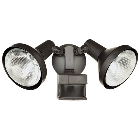 Heath Zenith HZ-5318-BZ Motion-Sensing Shielded Wide-Angle Twin Security Light, Bronze