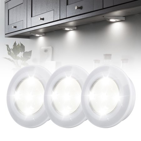 3 Pack Wireless Led Puck Lights With Remote Control Under Cabinet Lighting Lamp