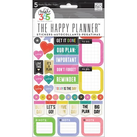 Create 365 Planner Stickers 5 Sheets/Pkg-Everyday Reminders - image 1 of 1