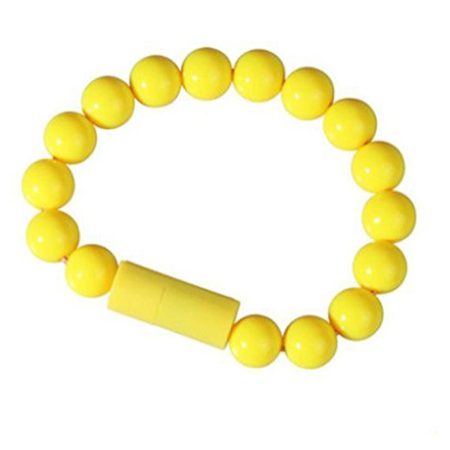 Beads Bracelet USB Charging / Sync Cable Micro USB Connector - Yellow - image 1 of 1