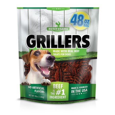 Betsy Farms Grillers Dog Treats, Beef Flavor, 48