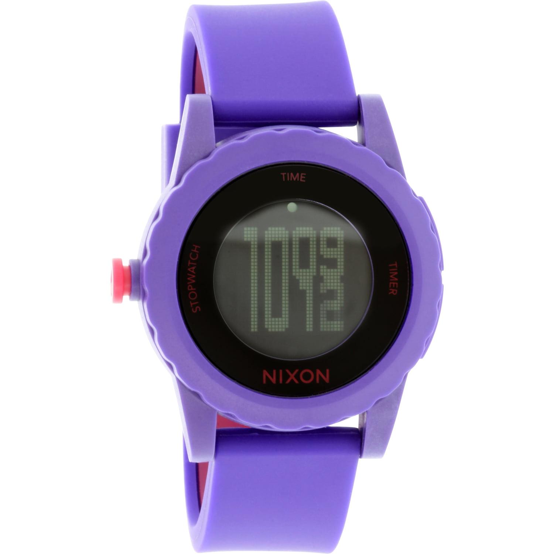 Nixon Women's Genie A326230 Purple Silicone Quartz Watch