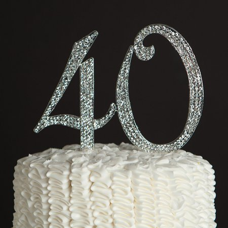 40 Cake Topper For 40th Birthday Or Anniversary Party Supplies And