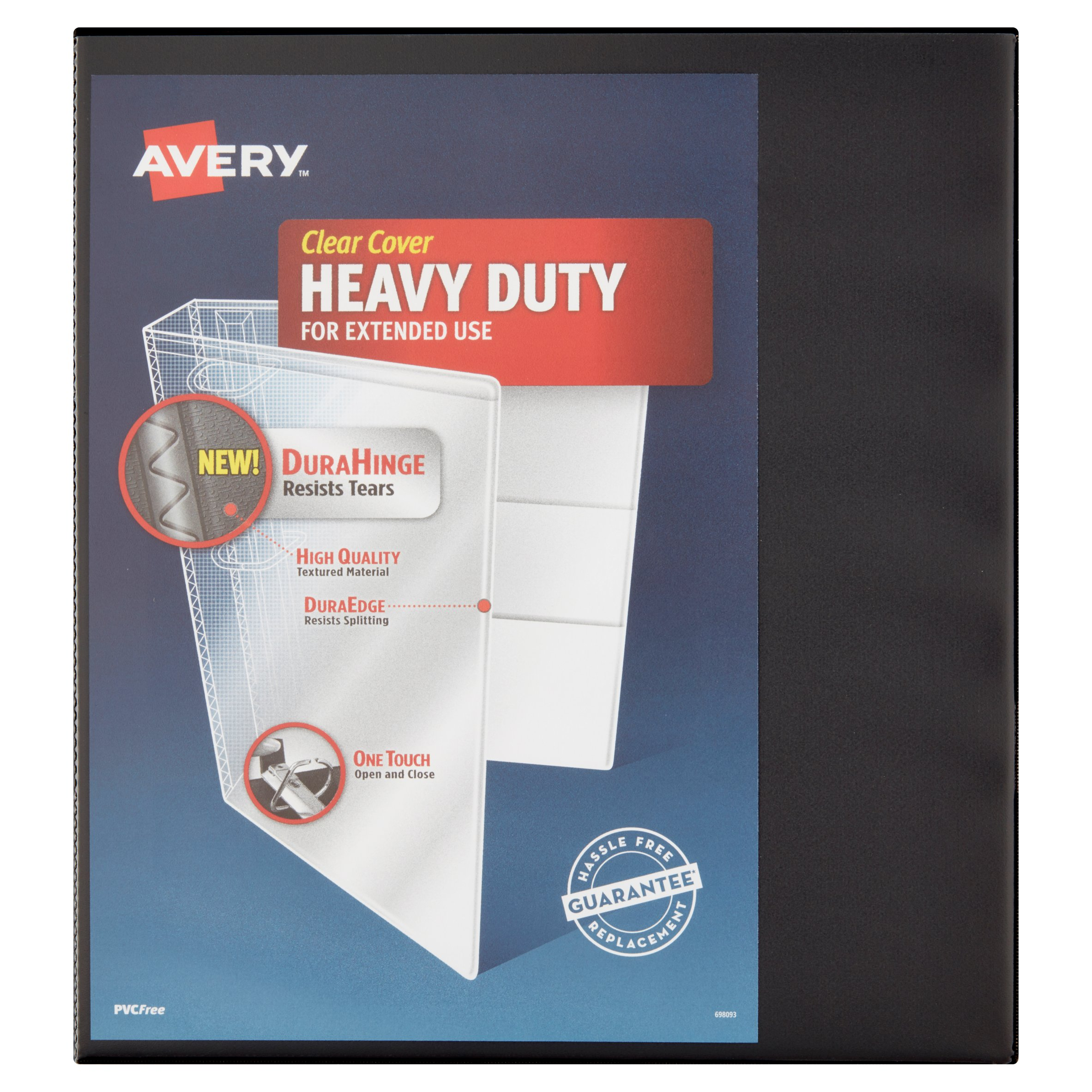 "Avery 1"" Heavy Duty Binder, One Touch EZD Ring, Black, 275 Sheets"